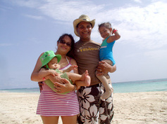 Family in Culebra, PR